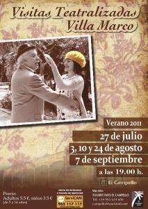 Cartel Visitas Teatralizadas a Villa Marco, El Campello