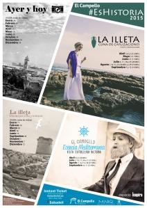 Cartel Visitas Guiadas y Teatralizadas 2015 en El Campello