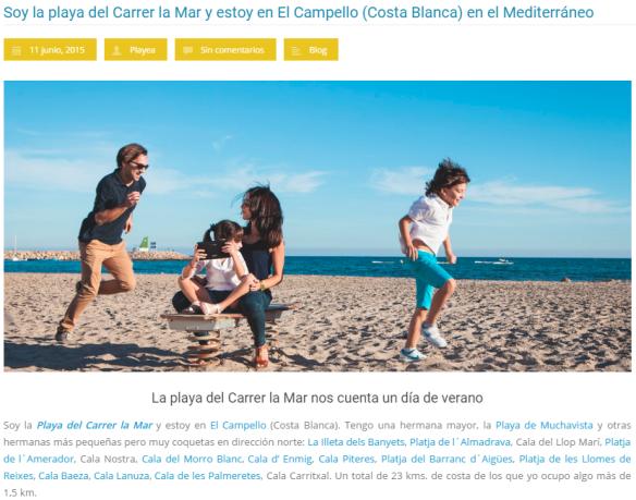 Playa del Carrer la Mar en El Campello, post playea.es