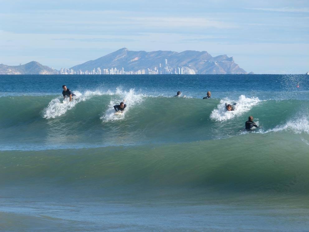 Surf en El Campello. Diciembre 2014