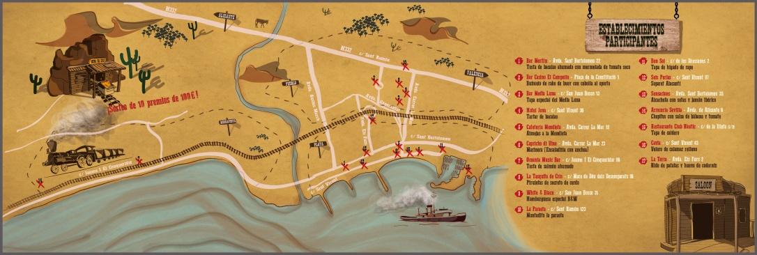 Plano ruta de tapas en El Campello