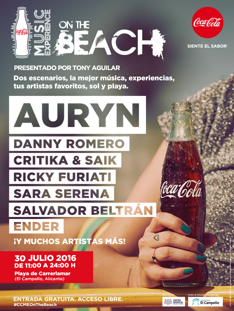 Coca Cola Music Experience On the Beach 2016 en El Campello