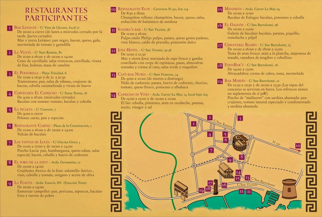 Restaurantes duelo de tapas en El Campello 2016