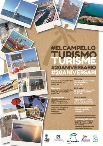 Cartel 20 aniversario El Campello Turismo