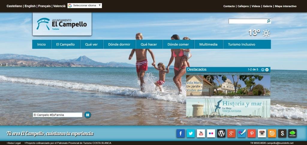 Web El Campello Turismo