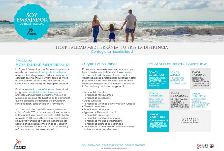hospitalidad Mediterránea - Turismo Comunidad Valenciana - El Campello 2018