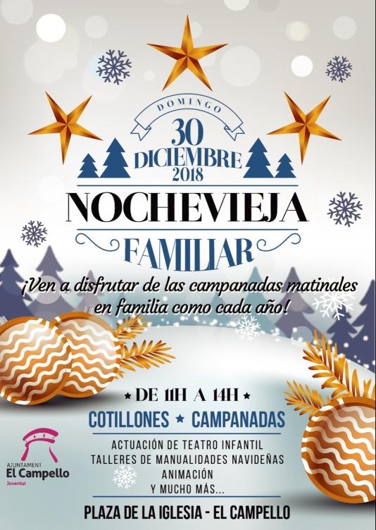Nochevieja familiar Navidad en El Cammpello 2018