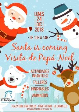Papa noel Coveta 2018 Navidad El Campello
