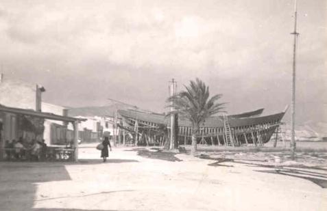 Astilleros en la Playa de El Campello